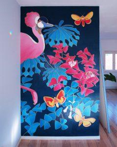Muurschildering Habiba Doorenbos